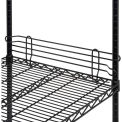 "Ledge 24""L x 4""H for Wire Shelves - Black Epoxy"