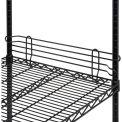 "Ledge 30""L x 4""H for Wire Shelves - Black Epoxy"