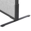 "8""H T-Leg Bracket for Office Partition Panels, Black (1 Pair)"