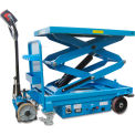 Self-Propelled Battery Powered Scissor Lift Table 2000 Lb. Cap.