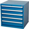 "Paramount™ Modular Drawer Cabinet, 5 Drawers, w/Lock, w/o Dividers, 30""Wx27""Dx29-1/2""H Blue"