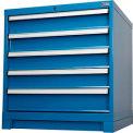 "Cabinet Base for Global™ Modular Drawer Cabinet 30""Wx27""D, Blue"