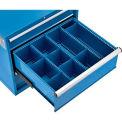 "Divider Kit for 10""H Drawer of Global™ Modular Drawer Cabinet 30""Wx27""D, Blue"