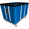 """20 BU-Heavy-Duty Basket Trucks By Royal - Vinyl Liner - 32""""Wx48""""Dx36""""H 4 Swivel Casters-Blue"""