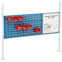 "Mounting Kit with 18""W Whiteboard and 36""W Louvers for 60""W Workbench - Blue"