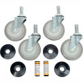 "Nexel - 5"" Swivel Stem Casters CA5S4, Polyurethane Set of (4) W/Bumper, 1200 lb Capacity"