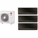 LG 24,000 BTU Tri Zone Mini Split System with 3 Art Cool Mirror Evaporators
