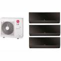 LG 24,000 BTU Tri Zone Mini Split System with 3 Art Cool Mirror Evaporators