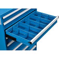 """Dividers for 5""""H Drawer of Global™ Modular Drawer Cabinet 36""""Wx24""""D, Blue"""
