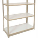 "Heavy Duty Tan Shelving 36""W x 18""D Additional Level, Laminate Deck - Gray"