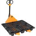 (1) Best Value Pallet Truck 5500 Lb. Cap. 27x48 Forks + (10) 270207 Nestable Plastic Pallet Combo