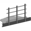 """Handrail 42""""Hx1-1/2"""" Square Tube 3 Rail With 4""""H Safety Kickplate"""