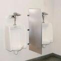 Global Industrial™ Bathroom Stainless Steel Urinal Screen 18 x 42