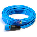 Century D14410050BL ProLock Extension Cord, 10/3 SJTW, 50', Lighted Ends, Blue