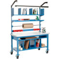 Complete Mobile Packaging Workbench Plastic Square Edge - 72 x 30