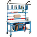 Complete Mobile Electronic Packaging Workbench Plastic Safety Edge - 72 x 30