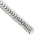 Global Industrial 1/4-20 x 6 feet, Threaded Rod - Zinc Plated Carbon Steel - Pkg Qty 6