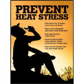 "Accuform SP125033L Safety Poster, PREVENT HEAT STRESS, 22""H x 17""W, Laminated Paper"
