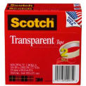 "Scotch® Transparent Tape 600-2P34-72, 3/4"" x 2592"", 3"" Core, 2 Rolls/PK"