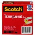 "Scotch® Transparent Tape 600-2P34-72, 3/4"" x 2592"", 3"" Core, 2 Rolls/PK"