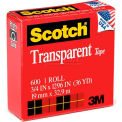 "Scotch® Transparent Tape 600, 3/4"" x 1296"", Boxed, 1"" Core, 1 Roll"