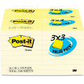 """Post-it® Note Pad 65436VAD90, 3"""" x 3"""", Canary Yellow, 100 Sheets, 36/Pack"""