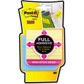 """Post-it® Notes Super Sticky Full Adhesive Notes F3304SSAL, 3"""" x 3"""", Marseille, 25 Sheets, 4/Pk"""
