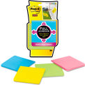 """Post-it® Notes Super Sticky Full Adhesive Notes F3304SSAU, 3"""" x 3"""", Bright, 25 Sheets, 4/Pack"""