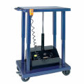 Battery Operated Work Positioning Post Lift Table 1000 Lb. Capacity