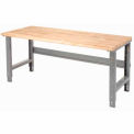 "60 X 30 Maple Safety Edge Work Bench- Adjustable Height - 1 3/4"" Top"