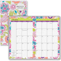 "AT-A-GLANCE® Good Vibrations 2 Year Monthly Pocket Planner 1/4"" x 3-3/4"" x 6-3/8"" Purple"