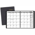 "AT-A-GLANCE® Monthly Planner, Black, 6 7/8"" x 8 3/4"", 2015"
