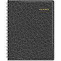 AT-A-GLANCE® Recycled 24-Hour Daily Appointment Book, 8-1/2 x 11, Black, 2015