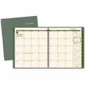 "AT-A-GLANCE® Recycled Monthly Planner, Green, 9"" x 11"", 2015-2016"