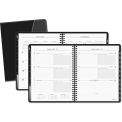 AT-A-GLANCE® Executive Weekly/Monthly Planner, 6-7/8 x 8-3/4, Black, 2015-2016