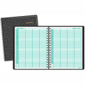"AT-A-GLANCE® Recycled Four-Person Group Daily Appointment Book, Black, 8"" x 10 7/8"", 2015"
