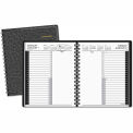 "AT-A-GLANCE® Recycled 24-Hour Daily Appointment Book, Black, 6 7/8"" x 8 3/4"", 2015"