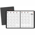 AT-A-GLANCE® 800 Range Recycled Monthly Planner, 9 x 11, Black, 2014-2016