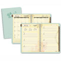 AT-A-GLANCE® Poetica Weekly/Monthly Planner, 5-1/2 x 8-1/2, Green, 2015-2016