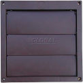 """Speedi-Products Louvered Plastic Flush Hood EX-HLFB 06 Brown No Tailpipe 6"""""""