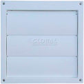 """Speedi-Products Louvered Plastic Flush Hood EX-HLFW 06 White No Tailpipe 6"""""""