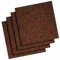 """Quartet® Dark Cork Tiles, 12"""" x 12"""", Modular, Self-Healing, Self-Stick, 4Pk - Pkg Qty 12"""