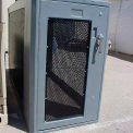 "Bike Locker Option-Window In Locker Door 16"" x 36"", Perforated Steel Powder Coated"