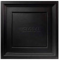 Genesis Designer Icon Coffer PVC Ceiling Tile 753-07, 2'L X 2'W, Satin Black - 12/Case