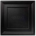 Genesis Designer Icon Coffer PVC Ceiling Tile 753-07, Waterproof & Washable, 2'L X 2'W, Satin Black
