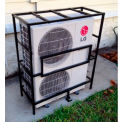 AC-Guard™ Mini-Split Air Conditioner Cage Unit - ACMS, Steel, Black