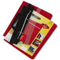 Laser Printer Hanging Expandable Binder, 3-Hole 11 X 8-1/2 Sheets, Red