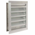 """Drainable Blade Fixed Louver with Flange 30""""W x 36""""H - DFL-F-30x36"""