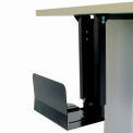 CPU Under Desk Holder with Slide and Swivel Adjustment