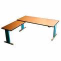 Accella™ Height Adjustable Right Return Desk - Maple